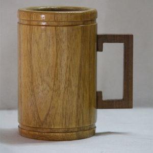 Teak Wood Beer Mug