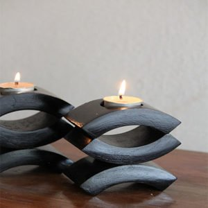 Wooden Candle Stand (Set of - 4)