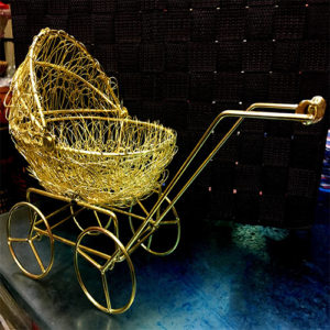Metallic Golden Cart