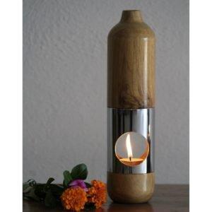 Wooden Aroma Diffuser Teak Wood 304 Steel