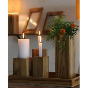 Wooden Table Vase