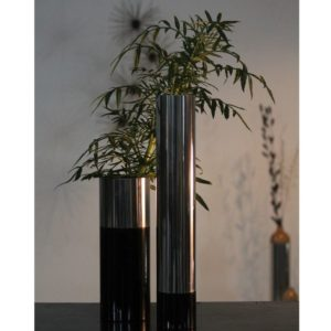 Wooden & Steel Table Vase
