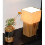 Teak Wood Table Lamp