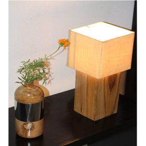 Buy Teak Wood Table Lamp Online in India