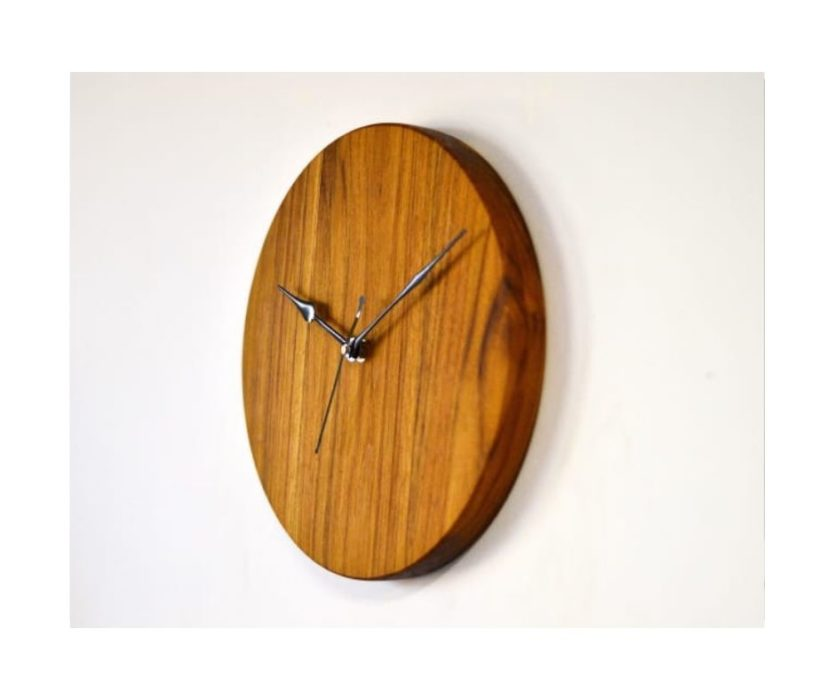 Teak Wood Wall Clock