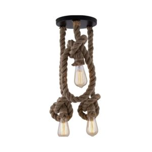 Rope Knot Pendant Lamp Triple Light