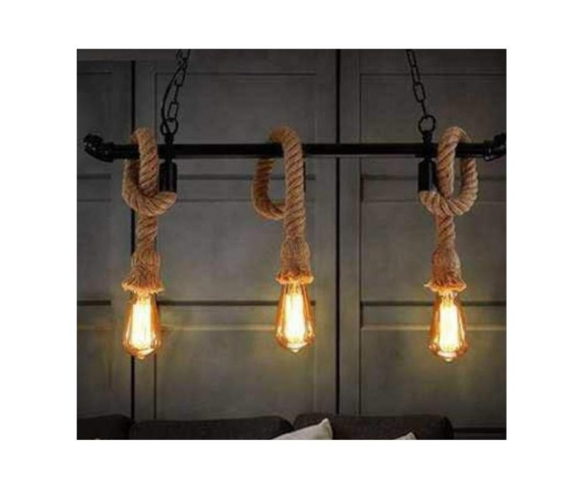 Triple Rope Hanging Pendant Lamp