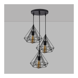 Diamond Shaped Triple Hanging Pendant Lamp 2
