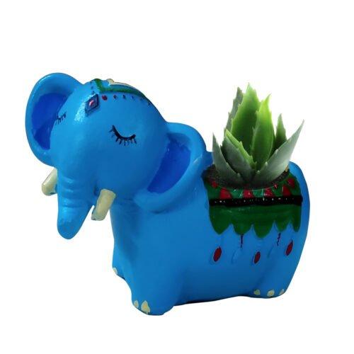 Elephant with plant