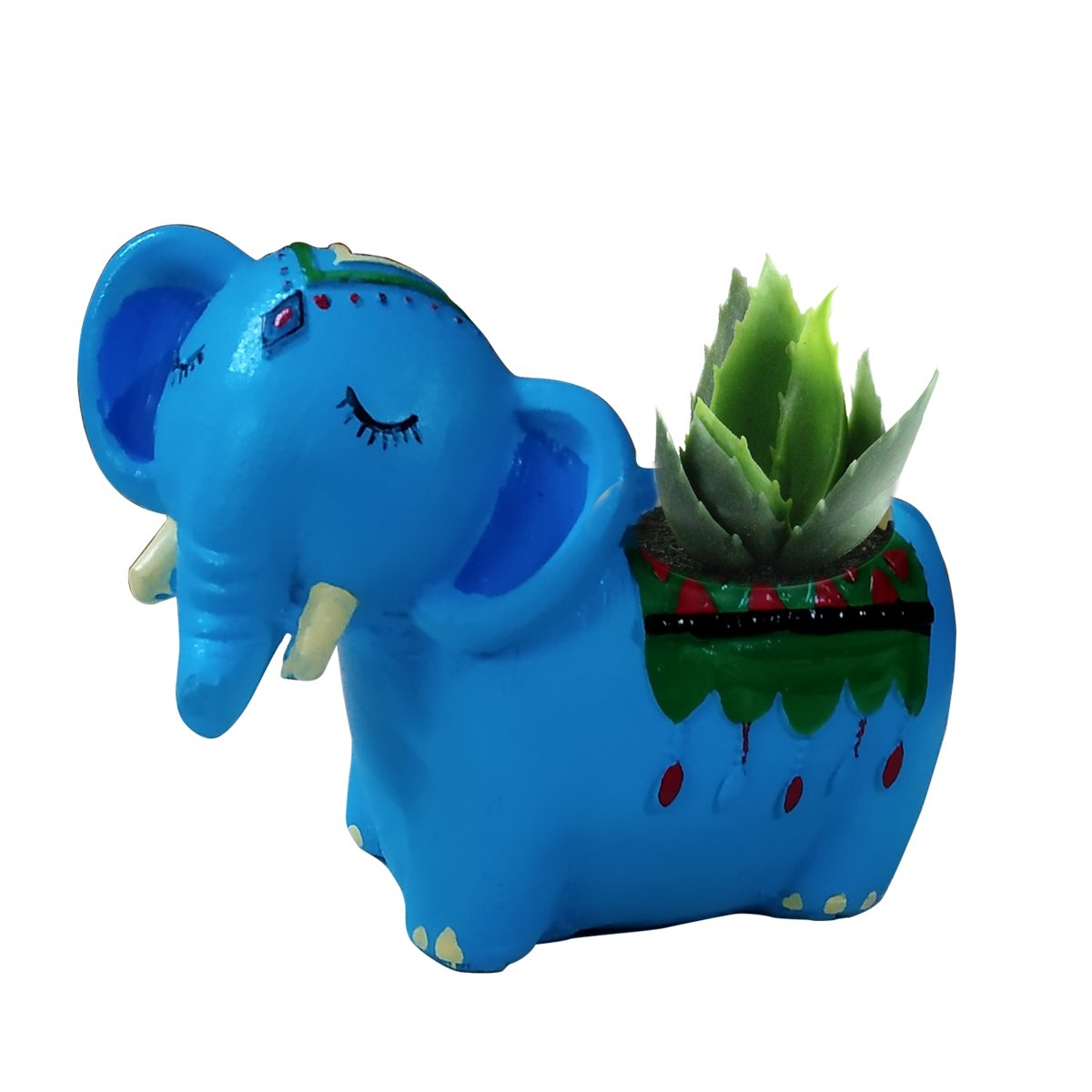 Elephant with plant