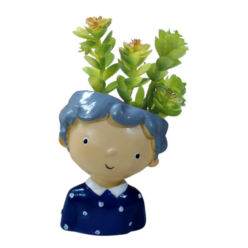 he doll with plant